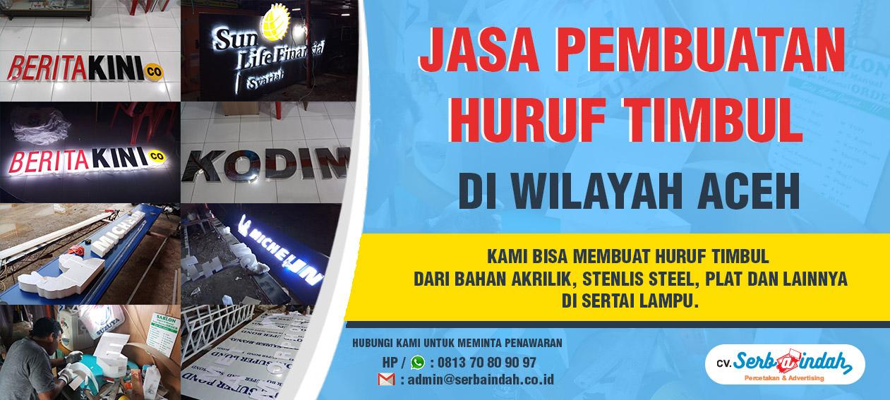 Banner Huruf Timbul